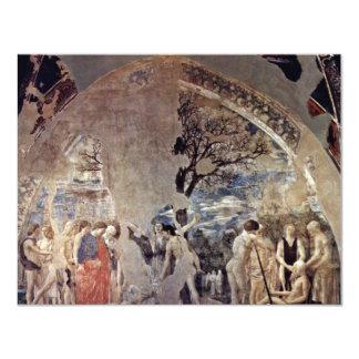 Tod und Beerdigung von Adam., durch Piero Della 10,8 X 14 Cm Einladungskarte