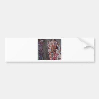 Tod und Leben durch Gustav Klimt Autoaufkleber