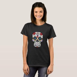 Todeskopf-Blumen T-Shirt