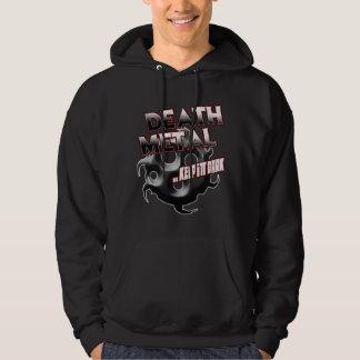 Todesmetallmusikt-shirt Hutaufkleber-Plakat-Button Pulli