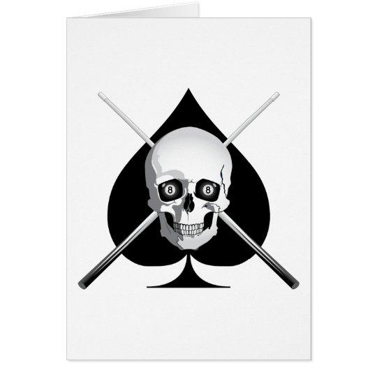 Tödliches Billard-As Grußkarte
