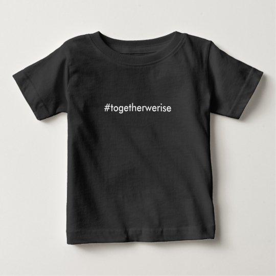 #TogetherWeRise Baby-Schwarz-T - Shirt