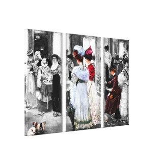 Toile Achat vintage de dames de regard