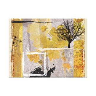 Toile Beaux-arts d'odeur d'hiver touchant l'arbre isolé