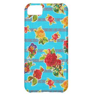 Toile cirée inspirée mexicaine - fleurs de coque iPhone 5C