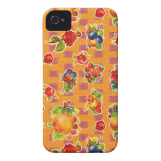 Toile cirée inspirée mexicaine - fleurs oranges de coques iPhone 4 Case-Mate