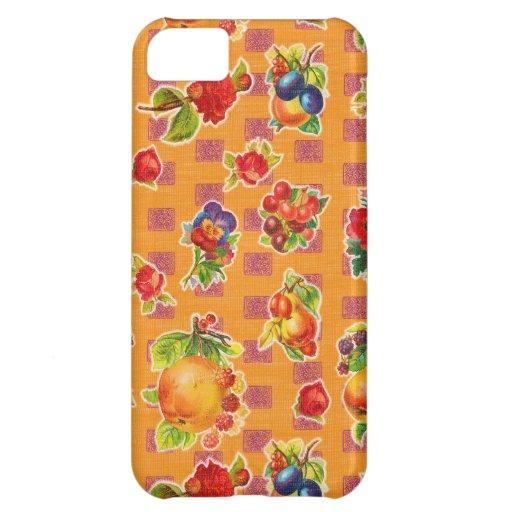 Toile cirée inspirée mexicaine - fleurs oranges de coques iPhone 5C