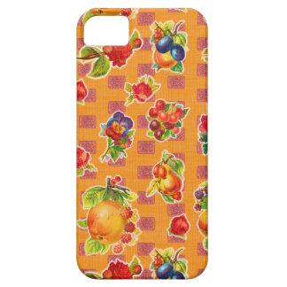 Toile cirée inspirée mexicaine - fleurs oranges de coque iPhone 5 Case-Mate
