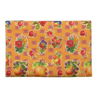 Toile cirée inspirée mexicaine - fleurs oranges de trousse à accessoires de voyage