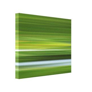 Toile composition abstraite dans vert