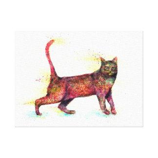 Toile Couleur pour aquarelle abstraite de chat
