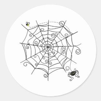 Toile d'araignée sticker rond
