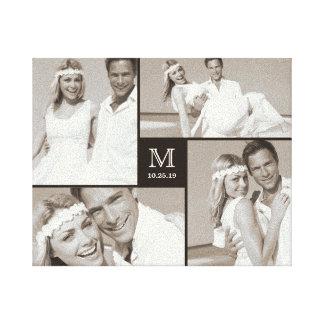 Toile élégante de collage de photo de mariage de