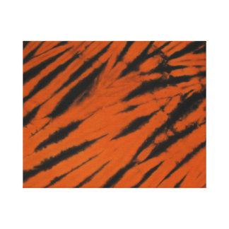 Toile enveloppée par colorant orange de cravate de impression sur toile