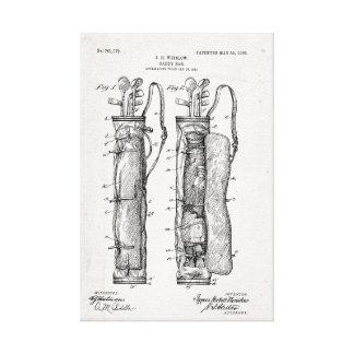 Toile enveloppée par copie de brevet de sac de impressions sur toile