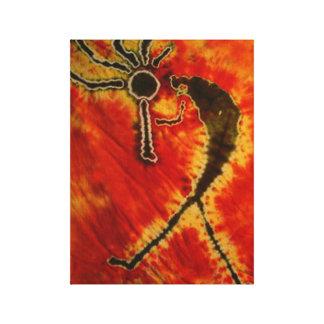 Toile étirée par colorant de cravate de Kokopelli Impression Sur Toile