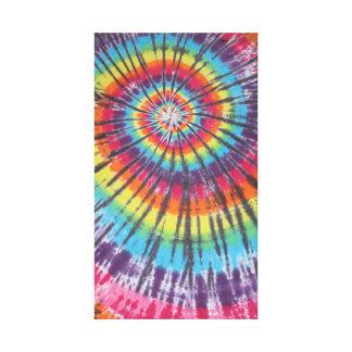 Toile étirée par colorant en spirale de cravate toile tendue