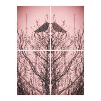 Toile Inséparables abstraits de rose d'impression