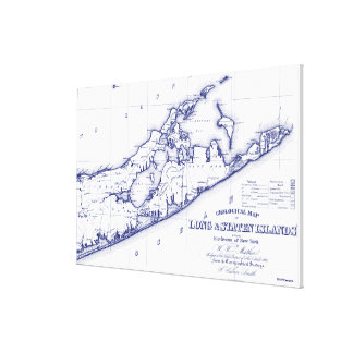 Toile Le Long Island la carte VC de Hamptons