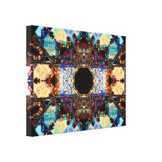 Toile Mandala abstrait de Fractalization