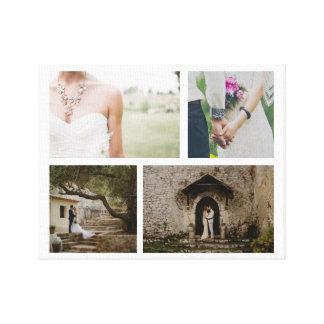 Toile Minimaliste de photo des couples quatre de mariage