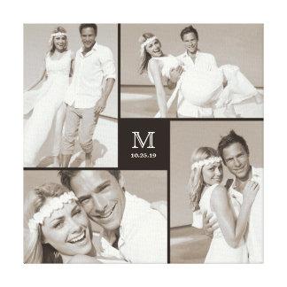 Toile moderne de collage de photo de mariage de
