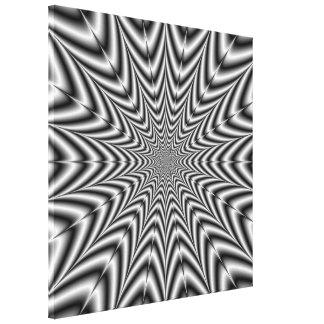 Toile Nova superbe en noir et blanc