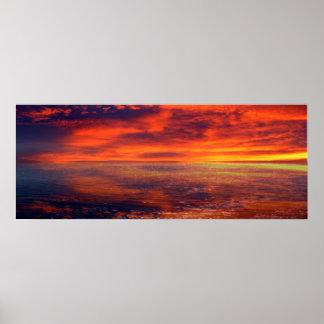 Toile ou affiche d'impression de coucher du soleil