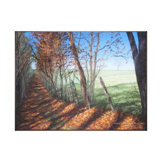 """Toile Paysage de beaux-arts """"de route de campagne"""""""