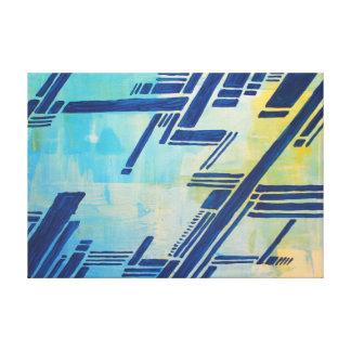 Toile peinture abstraite - bleu