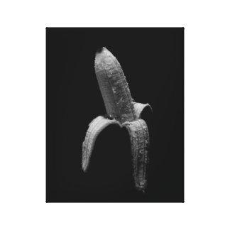 Toile Portrait noir et blanc de banane