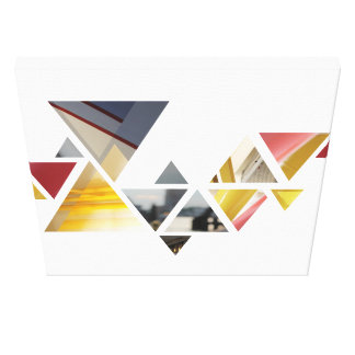 Toile triangles abstraits