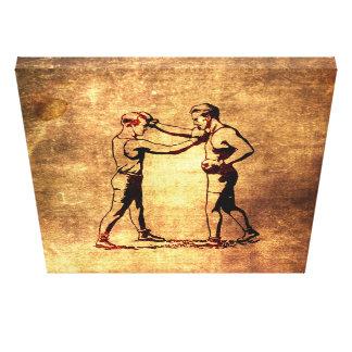 Toile Vintage boxing men