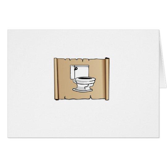Toilette auf der Rolle Grußkarte