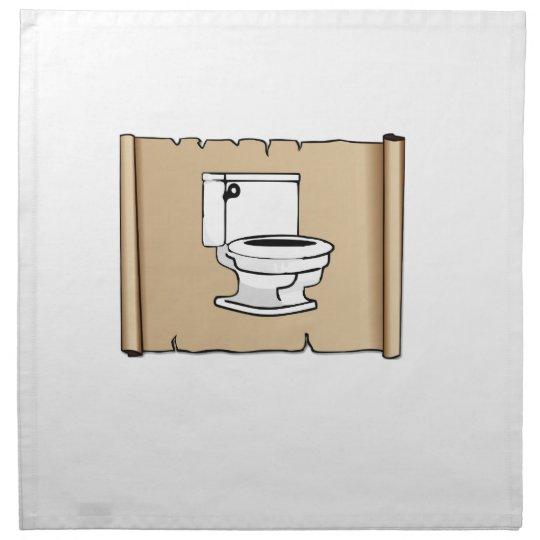 Toilette auf der Rolle Serviette