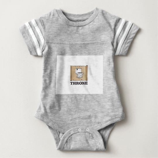 Toiletten-Thronspaß Baby Strampler