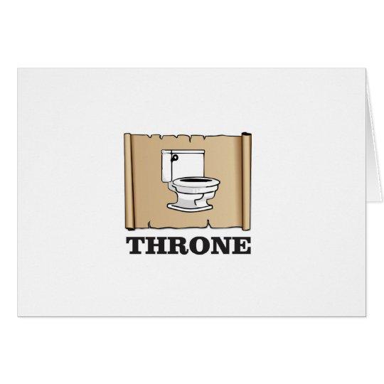 Toiletten-Thronspaß Grußkarte