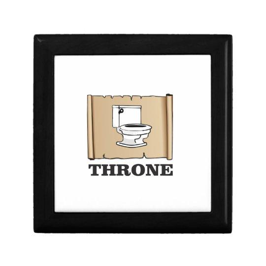 Toiletten-Thronspaß Kleine Quadratische Schatulle