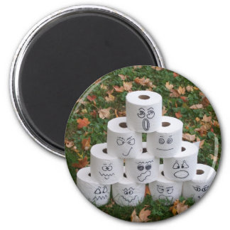 Toilettenpapier-Pyramide Runder Magnet 5,1 Cm