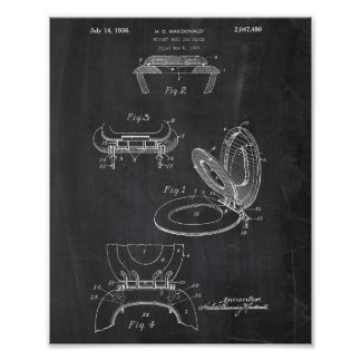Toilettenpapier-Rollenpatent Poster