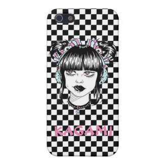 Tokio fashion girl Damier Manga iPhone 5 Schutzhülle