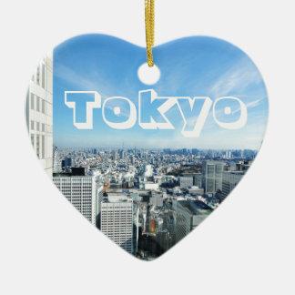 Tokyo, Japan Keramik Herz-Ornament