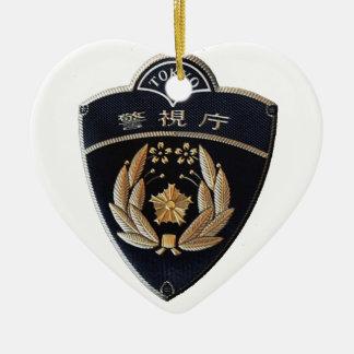 Tokyo-Polizei Keramik Herz-Ornament