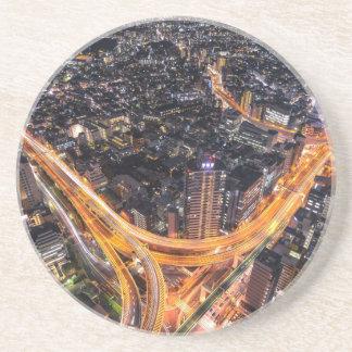 Tokyo-Verkehr Sandstein Untersetzer