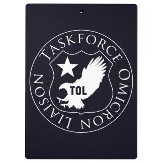 TOL Schild (2), weiß auf Klemmbrett #000011