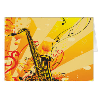 Tolle Saxophon-Strahlen von Musik Karte