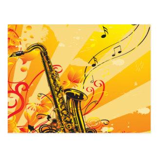 Tolle Saxophon-Strahlen von Musik Postkarte