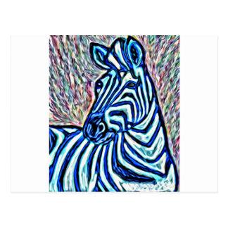 Toller Zebra Postkarte