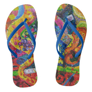 Tolles abstraktes drehen Reinfälle um Flip Flops