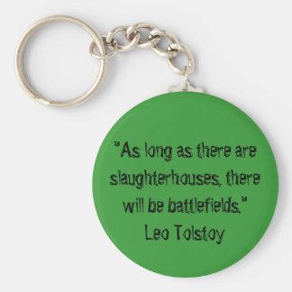 Tolstoy vegetarisches Zitat Standard Runder Schlüsselanhänger